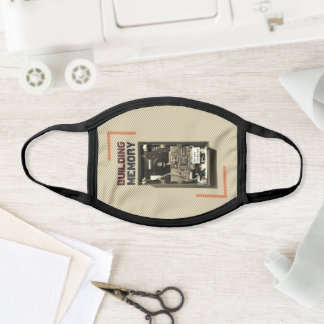 Customizable Building Memory Geek Hard Drive Retro Face Mask