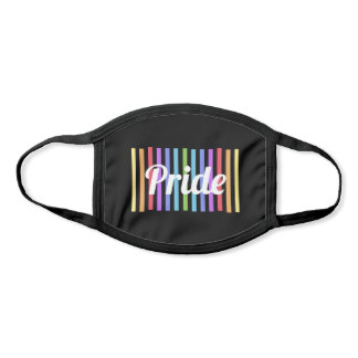 Customizable Rainbow Stripes Cool Pride Striped Face Mask