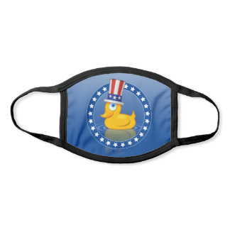 Cute American Uncle Sam Rubber Duck With USA Hat Face Mask