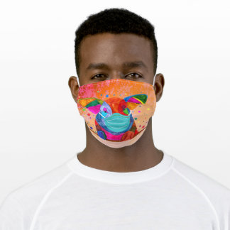 Cute and Colorful Happy Pig Face Mask