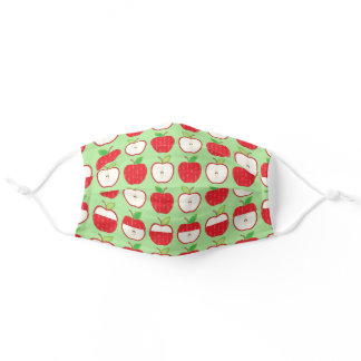 Cute Apples Food Print for Teachers Schools Adult Cloth Face Mask