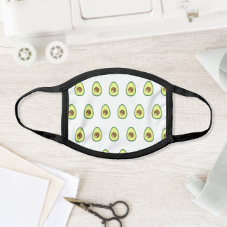 Cute Avocado Pattern Trendy Funky Hipster Vegan Face Mask