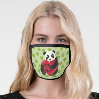 Cute Baby Panda with Heart 6FT Apart Face Mask