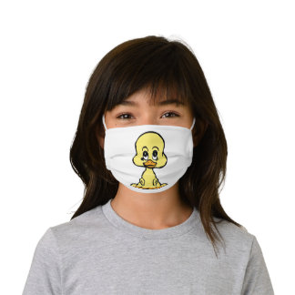 Cute Baby Yellow Duck Kids' Cloth Face Mask
