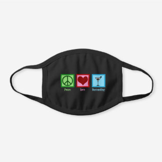 Cute Bartender Black Cotton Face Mask