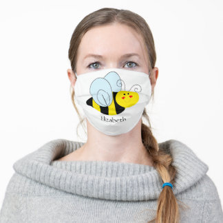 Cute Bee Personalized Adult Cloth Face Mask