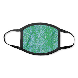 Cute Blue Green White Dots & Dashes Pattern Face Mask