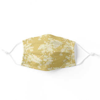 Cute Botanical Yellow Floral Flowers Blossom Adult Cloth Face Mask