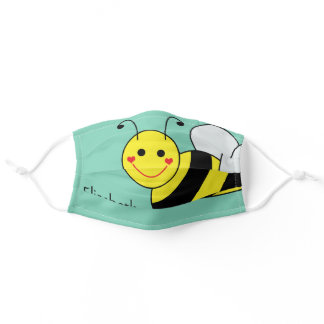 Cute Bumble Bee Personalized Adult Cloth Face Mask