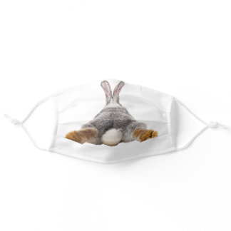 Cute Bunny Butt Tail Easter Adult Cloth Face Mask