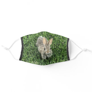 Cute Bunny Nature Adult Cloth Face Mask
