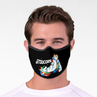 Cute But Dangerous Martial Arts Unicorn Premium Face Mask