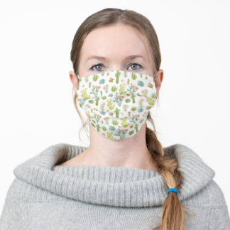 Cute Cactus Standing Pattern Adult Cloth Face Mask