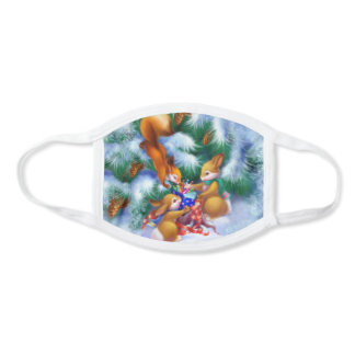 Cute Christmas Animals All-Over Print Face Mask