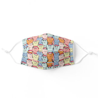 Cute Christmas Cat Pattern Cloth Face Mask