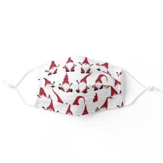 Cute Christmas Gnome Adult Cloth Face Mask