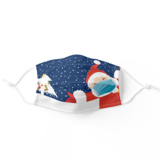 Cute Christmas Pandemic Santa Claus Adult Cloth Face Mask