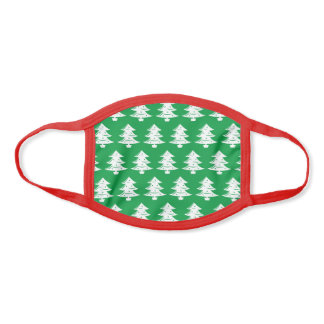 Cute Christmas tree pattern Holiday print Face Mask