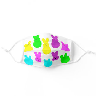 Cute Colorful Easter Bunny Peeps Adult Cloth Face Mask