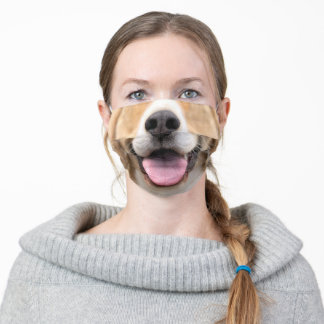 Cute Dog Nose Tongue Adult Cloth Face Mask