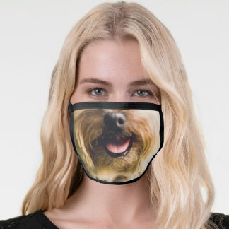 Cute Dog, Yorkshire Terrier Face Mouth Tongue Face Mask
