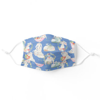 Cute Easter Bunny Pattern Adult Cloth Face Mask