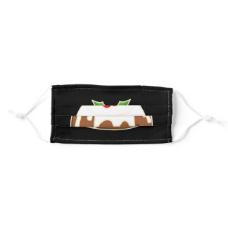 Cute Figgy Pudding Christmas Pudding Adult Cloth Face Mask