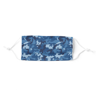 Cute Fun Camo – Blue Adult Cloth Face Mask