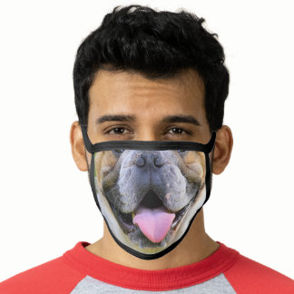 cute funny animal dog lover bulldog mouth face mask