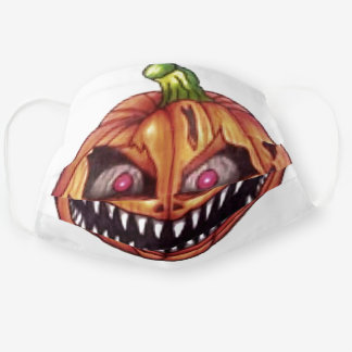 Cute Funny Black Orange Halloween Adult Cloth Face Mask