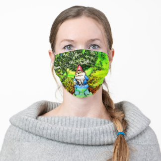 Cute Garden Gnome social distancing protective Adult Cloth Face Mask