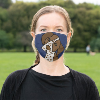 Cute German Short-haired Pointer Dog Adult Cloth Face Mask