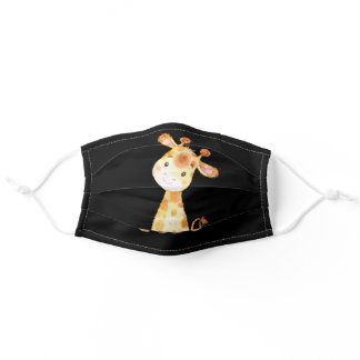 Cute Giraffe Yellow and Black Cloth Face Mask