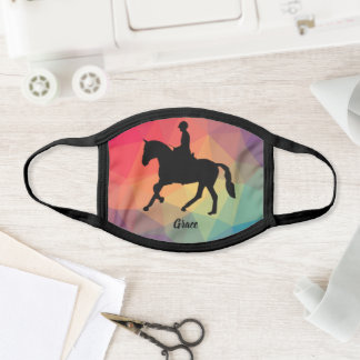 Cute Girly Equestrian Horseback Riding Horse Face Mask