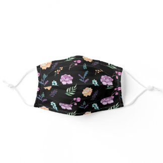 Cute Girly Flowers Nature Floral Pattern Pretty Adult Cloth Face Mask