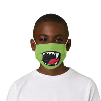 Cute Green Monster Mouth Kids' Cloth Face Mask