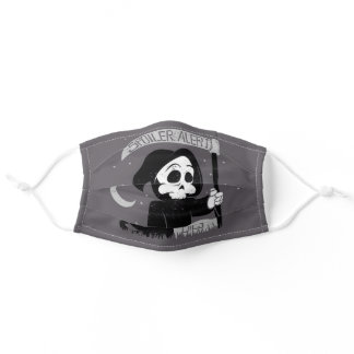 Cute grim reaper with scythe adult cloth face mask