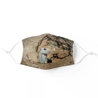 Cute Ground Squirrel Adult Cloth Face Mask