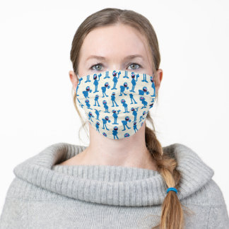Cute Grover Pattern Adult Cloth Face Mask