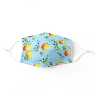 Cute happy mangoes cartoon pattern adult cloth face mask