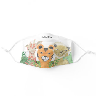 Cute Kid's Animals Children's Theme Personalized Adult Cloth Face Mask
