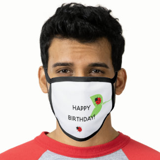 Cute Ladybugs Happy Birthday All Over Print Face Mask