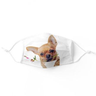 Cute Little Chihuahua Dog Pet Adult Cloth Face Mask