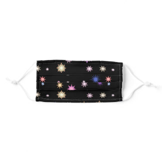 Cute Night Sky with Colorful Stars Adult Cloth Face Mask
