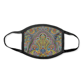 Cute Orange Blue Pink Purple Black Paisley Floral Face Mask