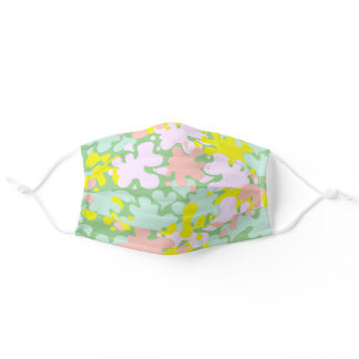 Cute Pastel Abstract Splash Color Drop Lime Green Adult Cloth Face Mask