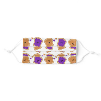Cute Peanut Butter and Jelly Pattern Adult Cloth Face Mask