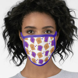 Cute Peanut Butter and Jelly Pattern Face Mask