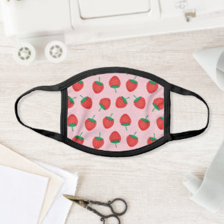 Cute Pink And Red Summer Strawberry Face Mask