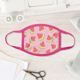 Cute Pink Watermelon Slices Fruit Pattern Face Mask